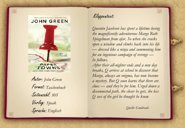 John Green Übersicht fertig
