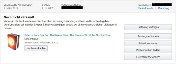 I am Number Four Box Set Bestellung Amazon