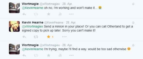 Kevin Hearne - Tweet Antwort