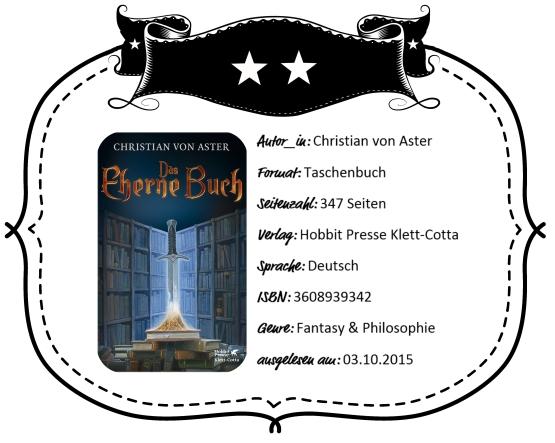 2015-10-03 - von Aster Das Eherne Buch