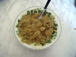 Curry auf dem Teller