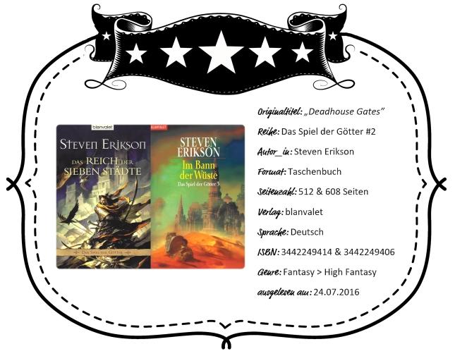 2016-07-24 - Erikson Das Reich der Sieben Städte & Im Bann der Wüste