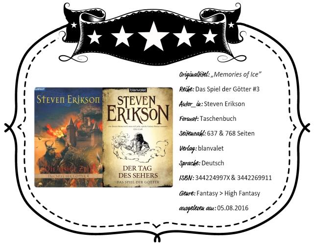 2016-08-05 - Erikson Die Eisige Zeit & Der Tag des Sehers (Das Spiel der Götter #3)