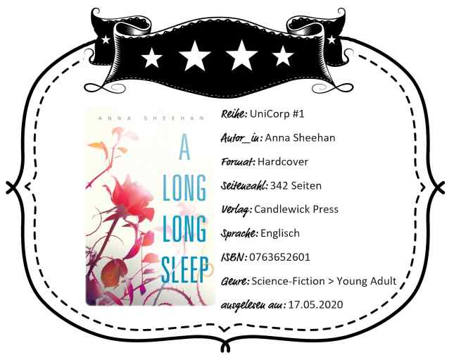 "Rezensionsheader von ""A Long, Long Sleep"" von Anna Sheehan"