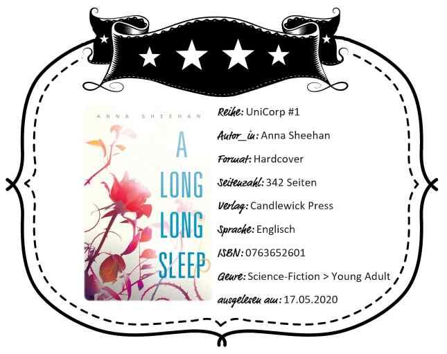 "Rezensionsheader von ""A Long, Long Sleep"" von Anna Sheehan"