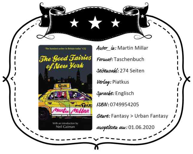 Rezensionsheader von 'The Good Fairies of New York' von Martin Millar