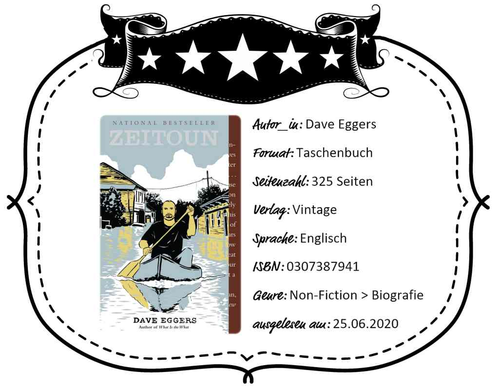 """Rezensionsbanner des Buches """"Zeitoun"""" von Dave Eggers"""